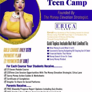 Savvy Money Teen Camp Deposit